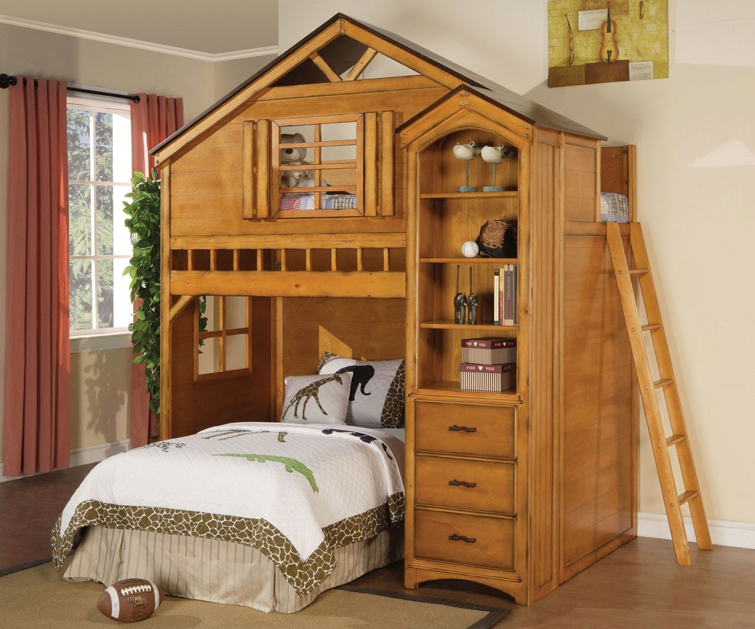 Image of: Treehouse Loft Bed for Adults