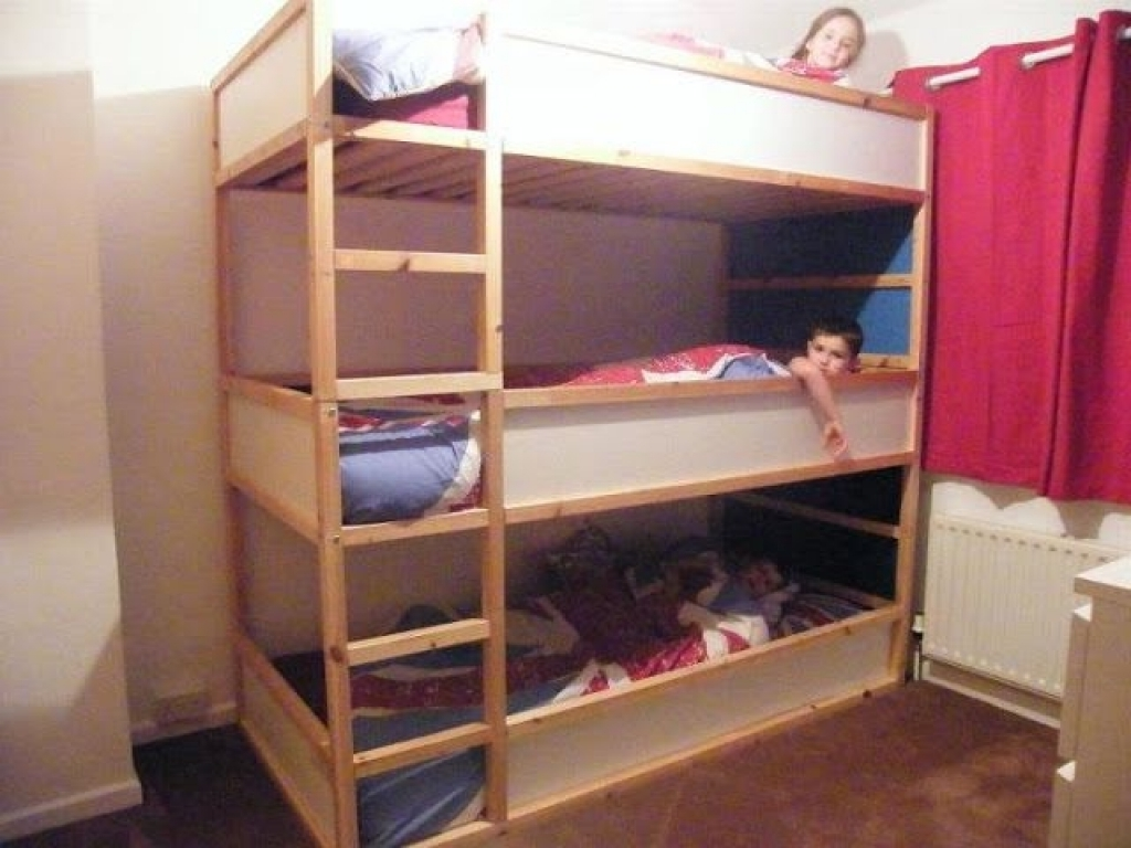 Triple Bunk Bed IKEA White