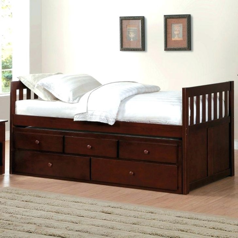 Image of: Twin Daybed With Pop Up Trundle Bed
