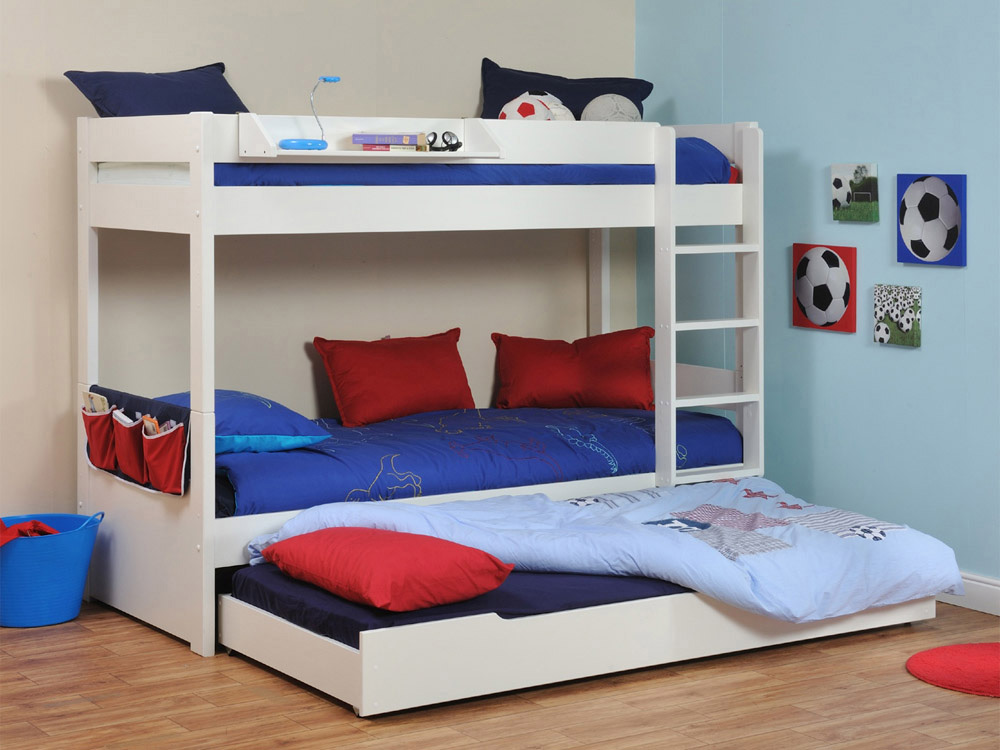 Image of: Twin Kids Bunk Beds with Trundle