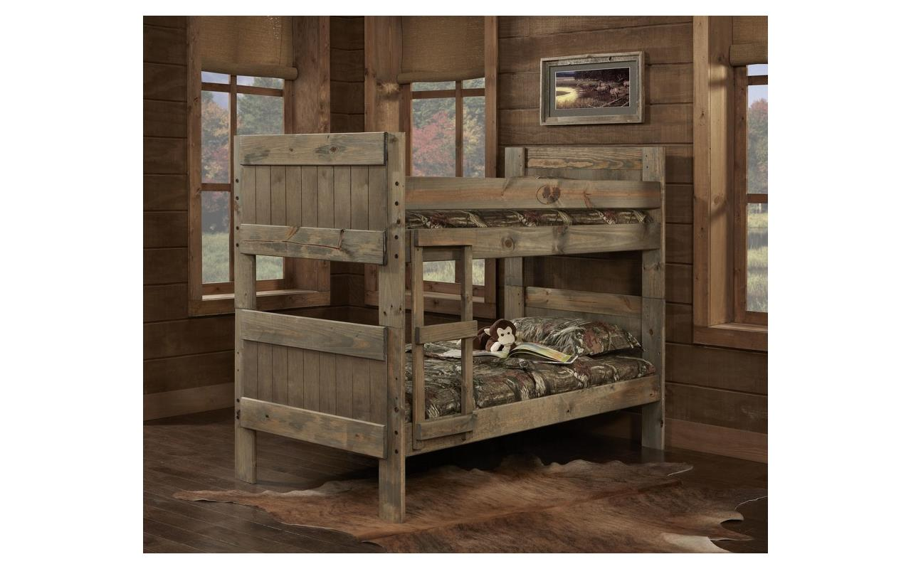 Image of: Twin Rustic Bunk Beds