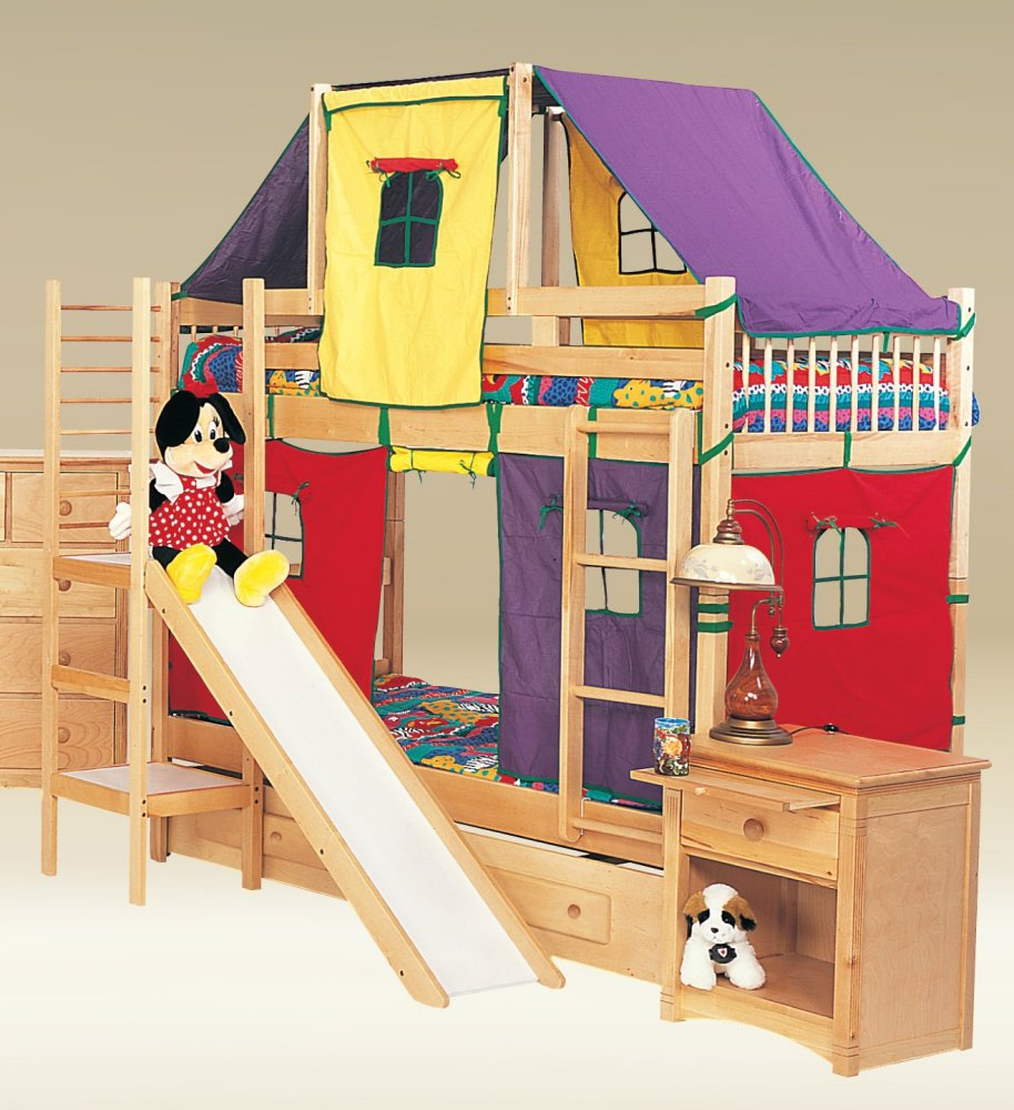 Unique Toddler Bunk Bed with Slide