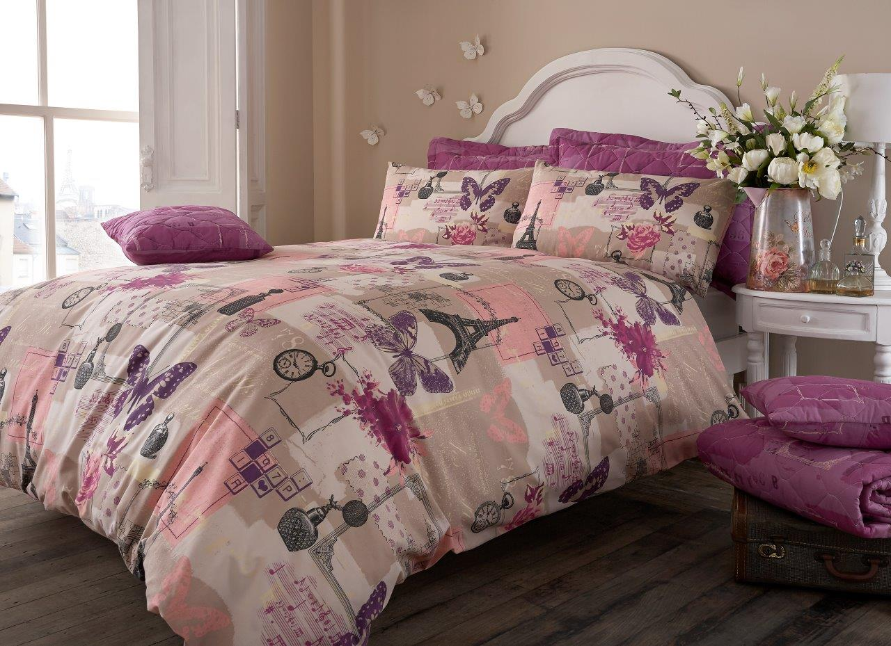 Image of: Vintage Floral Bed Set