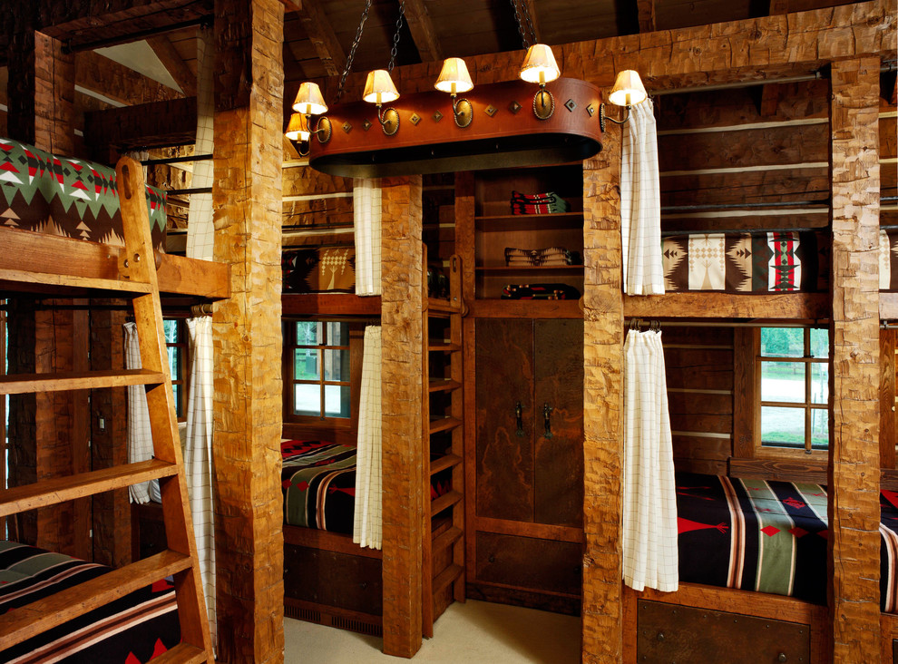 Image of: Western Rustic Bunk Beds
