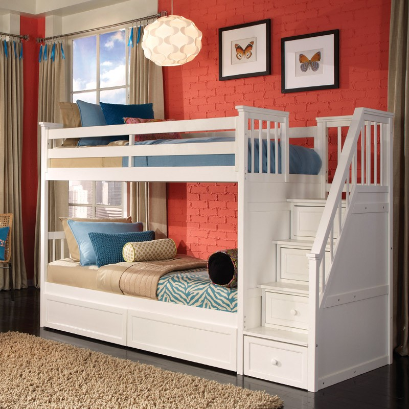 White Bunk Bed Set