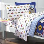 White Cars Bedding Set