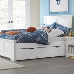 White Full Trundle Bed