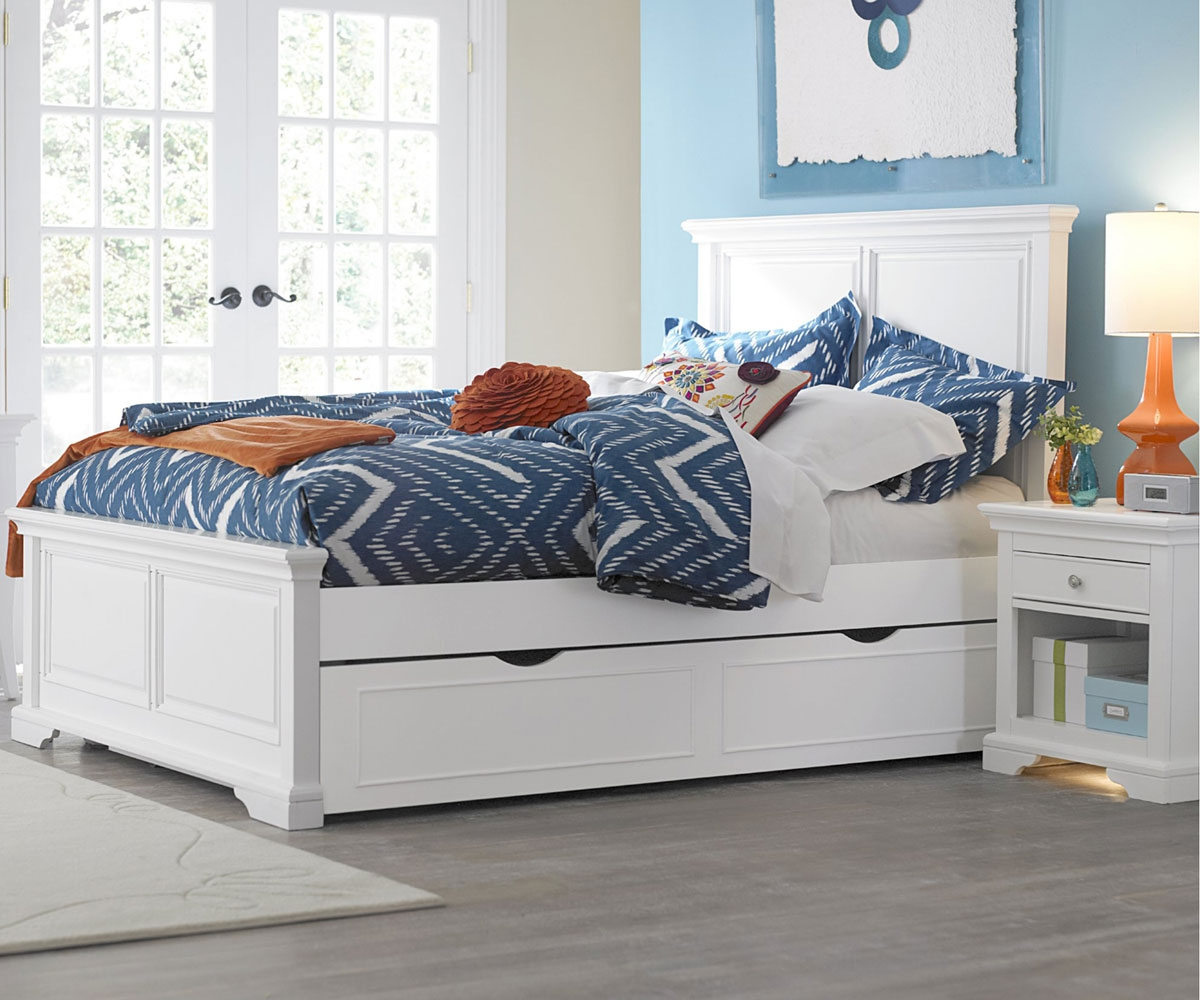 Image of: White Full Trundle Bed