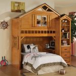 White Panel Treehouse Loft Bed