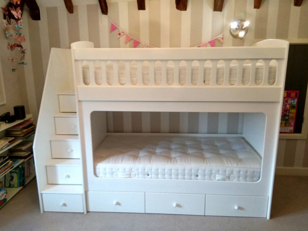 Image of: Cool White Single Bunk Bed