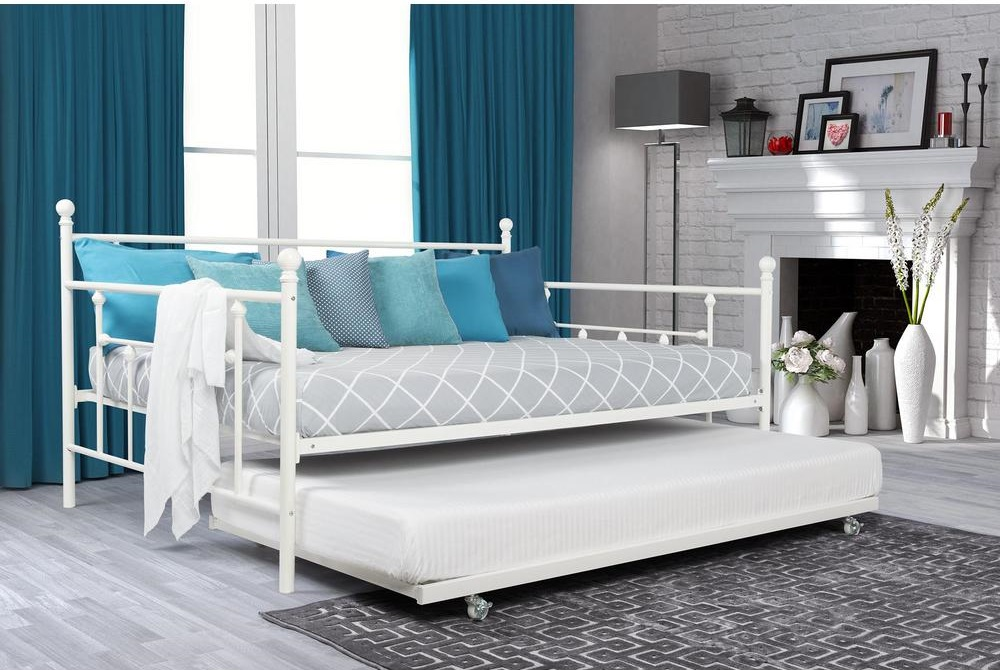 White Trundle Bed Frame