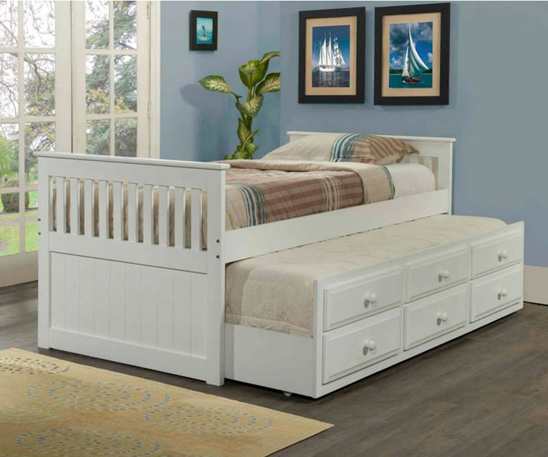 Image of: White Trundle Beds