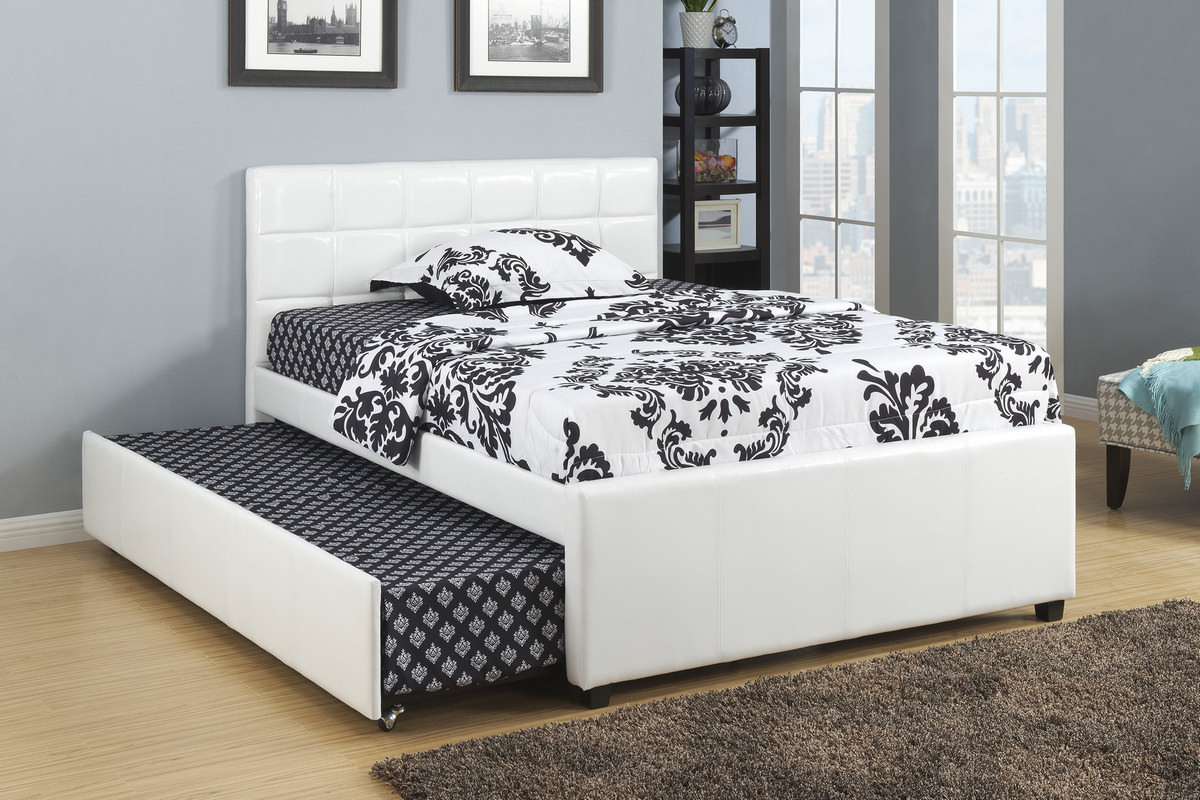 Wonderful White Trundle Bed