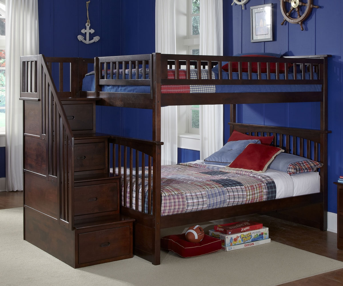 Image of: Wood Full Bunk Bed