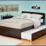 Wood Queen Bed with Trundle