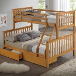 Wood Three Bed Bunk Beds