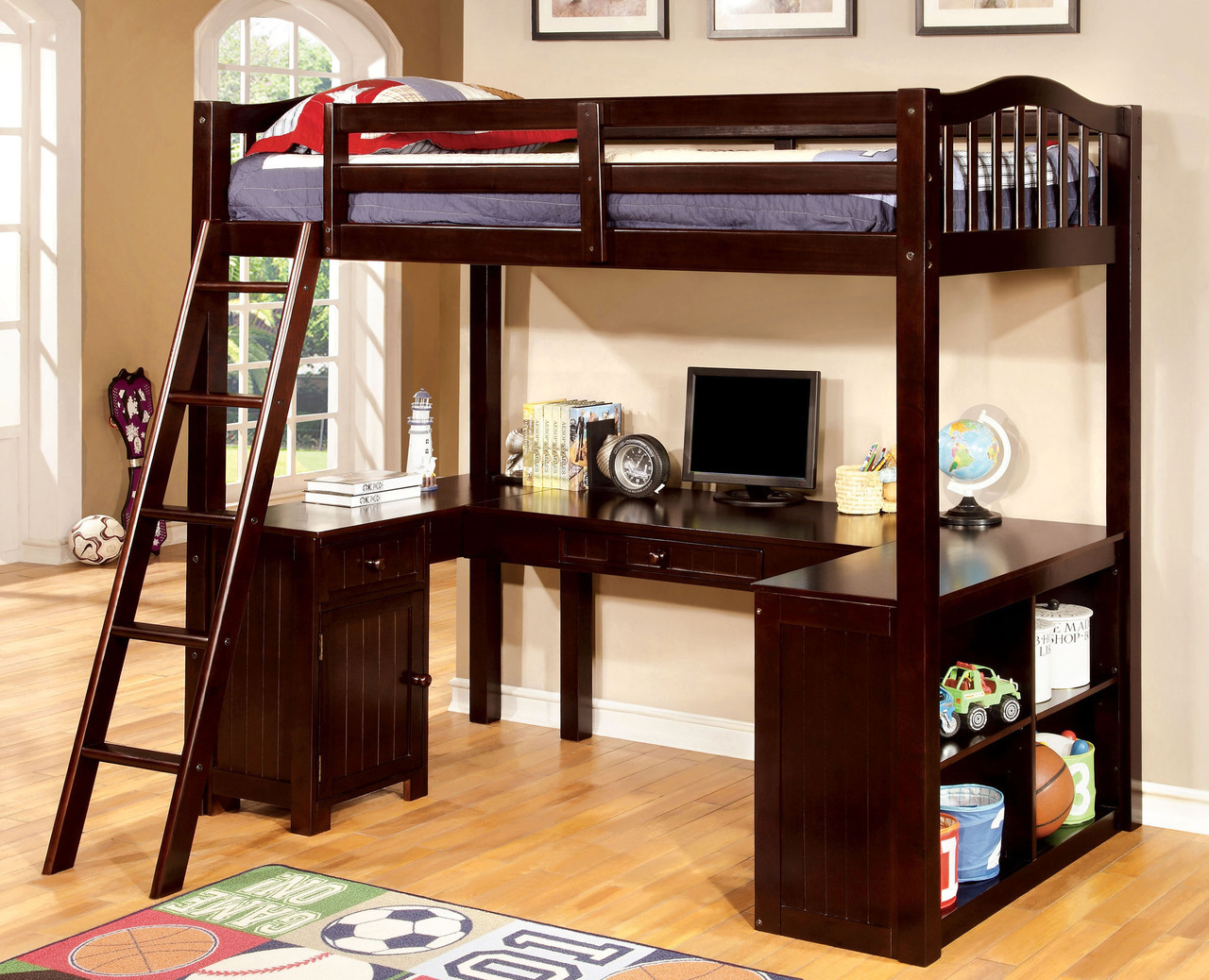 Image of: Wooden Loft Bed Ideas