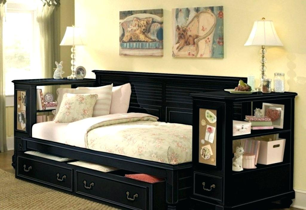Image of: Wooden Pop Up Trundle Bed
