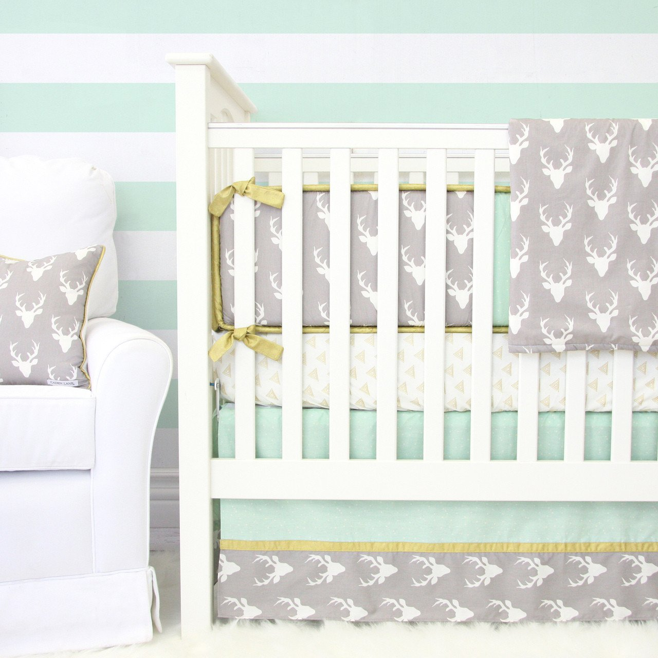 Woodlands Deer Baby Bedding Set