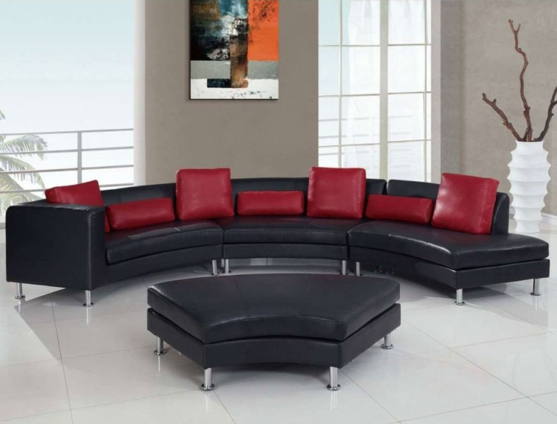 Image of: Black And Red Living Room Set