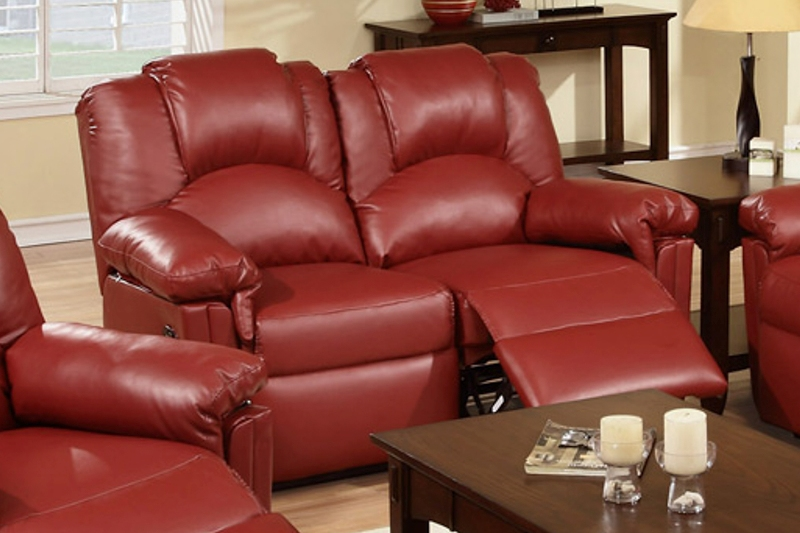 Image of: Cortez Red Dual Reclining Living Room Set