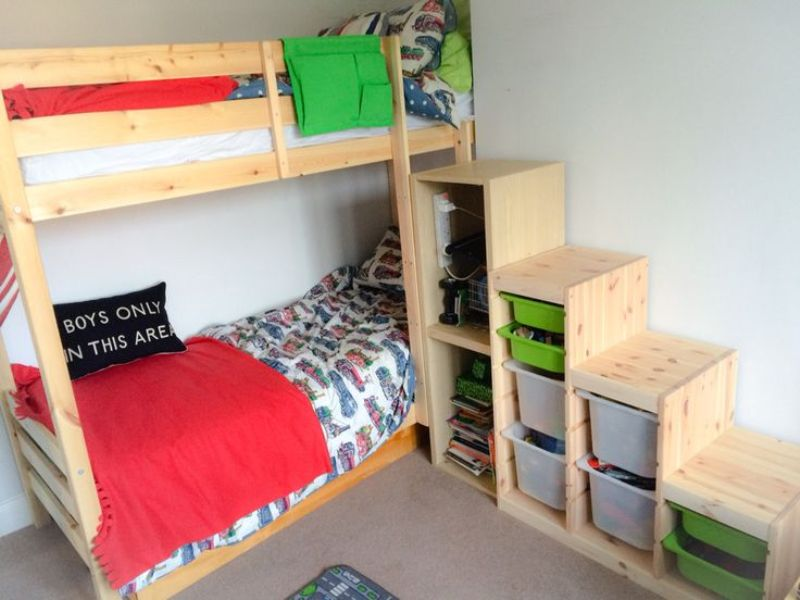 Image of: Ikea Hacks Bunk Beds Extended Toddler Bed