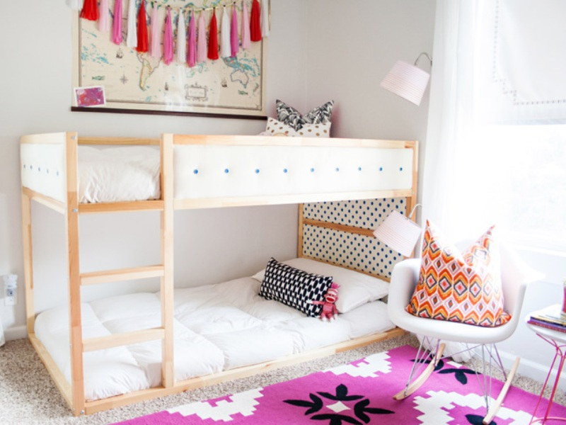 Image of: Ikea Hacks Bunk Beds Extended Toddler Mattress