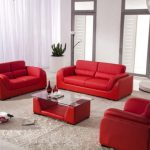 Red Couch Living Room Set