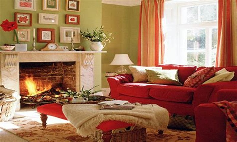 Image of: Red Living Room Set Ideas