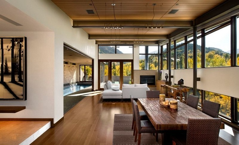 Image of: Rustic And Modern Living Room
