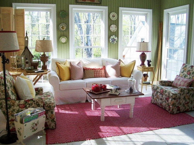 Image of: Shabby Chic Country Living Room
