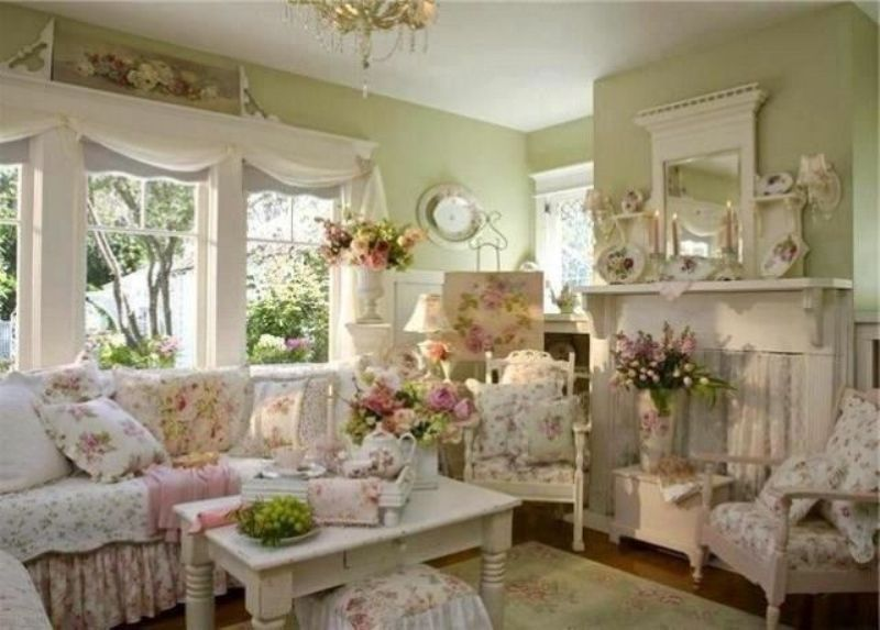 Image of: Shabby Chic Living Room Furniture