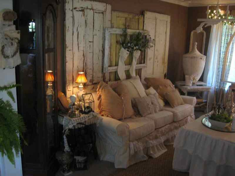 Image of: Shabby Chic Rustic Living Room