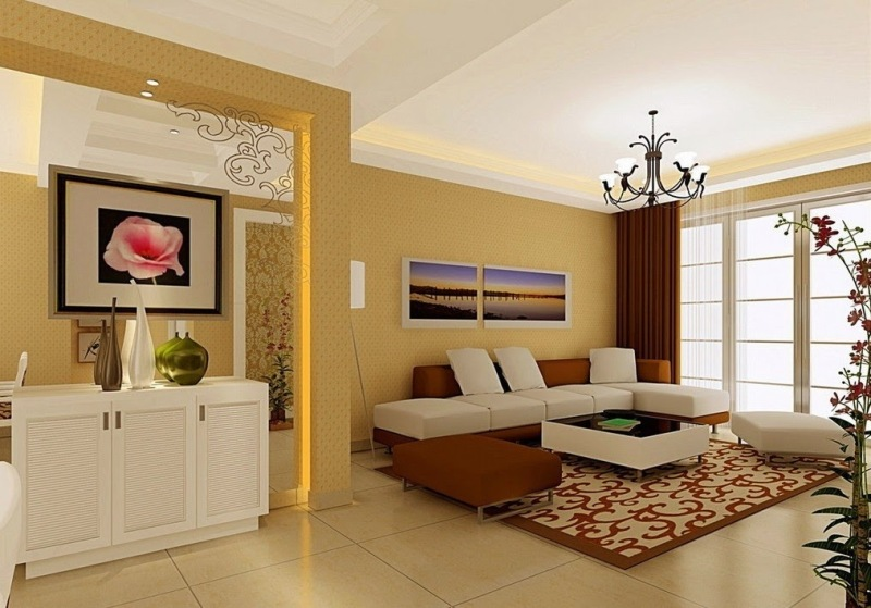 Image of: Simple Home Decorating Ideas Living Room