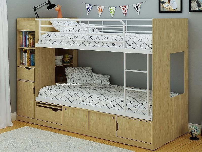 Image of: Cute Single Bunk Bed With Storage