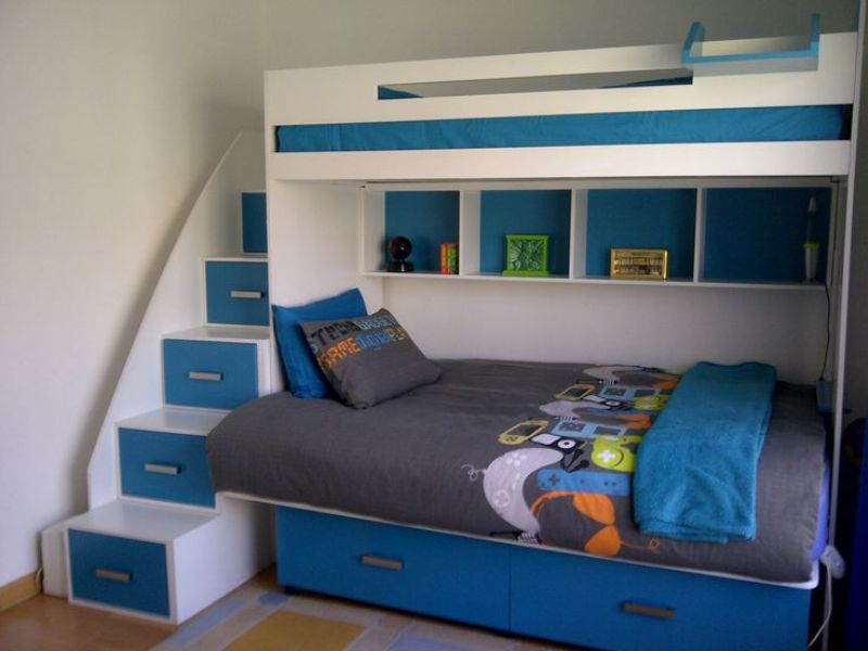 Image of: Single Over Double Bunk Bed