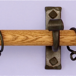 Wood Curtain Rods With Silver Nobs Jcpenney